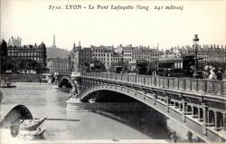 Lyon : Le Pont Lafayette (long. 241 mètres)