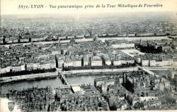 Lyon : Vue panoramique prise de la Tour Métallique de Fourvière