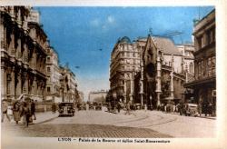 Lyon : Palais de la Bourse et église Saint-Bonaventure