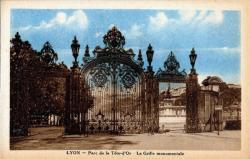 Lyon : Parc de la Tête-d'Or ; La Grille monumentale