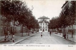 LYON-LA-VILLETTE : Rue Gabillot et Groupe Scolaire
