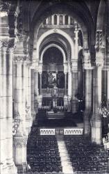 Lyon : Église de L'Immaculée-Conception ; La grande nef, vue de la tribune