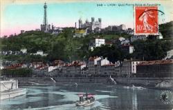 Lyon : Église Saint-Georges ; Cathédrale Saint-Jean ; Quais de Tilsitt et des Célestins ; Panorama sur la Saône