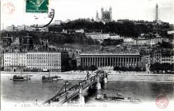 Lyon : Le Palais de Justice et le côteau de Fourvière
