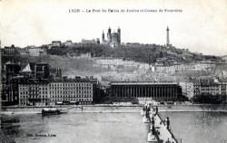 Lyon : Pont du Palais de Justice et Coteau de Fourvière