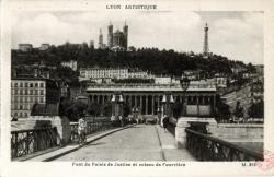 Lyon artistique : Pont du Palais de Justice et coteau de Fourvière