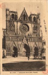 Lyon : Cathédrale Saint-Jean ; Façade