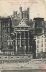 Lyon : Abside de l'Église Saint-Jean et Basilique de N.- D. de Fourvière