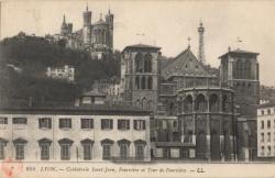 Lyon : Cathédrale Saint-Jean ; Fourvière et Tour de Fourvière