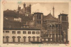 Lyon : La Cathédrale Saint-Jean et le Coteau de Fourvière