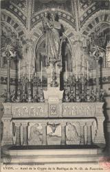 Lyon : Autel de la Crypte de la Basilique de N.-D. de Fourvière
