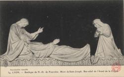 Lyon : Basilique de N.-D. de Fourvière ; Mort de Saint-Joseph ; Bas-relief de L'Autel de la Crypte