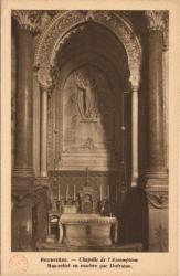 Fourvière : Chapelle de l'Assomption ; Bas-relief en marbre par Dufraine