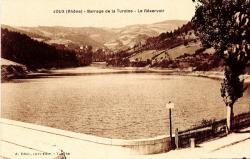 Joux (Rhône) : Barrage de la Turdine