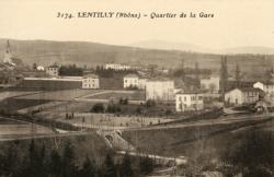 Lentilly (Rhône) : Quartier de la Gare
