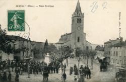 Lentilly (Rhône) : Place Publique