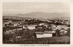 Lentilly (Rhône) : Vue prise de Mercruy