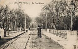 Oullins (Rhône) : Le Pont Blanc