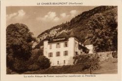 Le Chable-Beaumont (Hte-Savoie) : La vieille Abbaye de Pomier ; aujourd'hui transformée en Hôtellerie