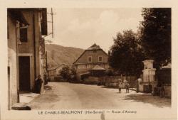 Le Chable-Beaumont (Hte-Savoie) : Route d'Annecy