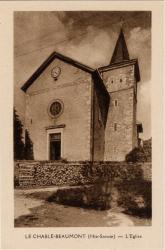 Le Chable-Beaumont (Hte-Savoie) : L'Eglise