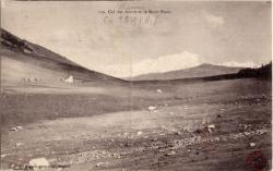 Col des Aravis et le Mont Blanc