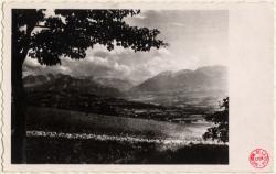 Bonne-sur-Menoge (Hte-Savoie) : La chaîne des Aravis vue depuis le haut de la commune