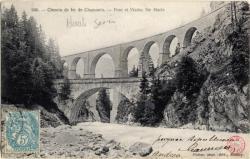 Chemin de fer de Chamonix : Pont et Viaduc Ste Marie