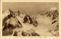 Aiguille, Col du Géant et Mont Blanc : Vus de l'Aiguille du Moine