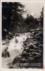 Chamonix : Aiguille du Midi ; Vue de la route des Bassons