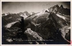 Chamonix : Les Aiguilles Verte et Dru et du Chardones vues de la Flégère