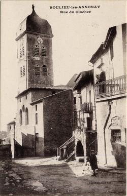 Boulieu-les-Annonay (Ardèche) : Rue du Clocher