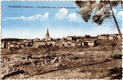 """Chassiers (Ardèche) : Vue générale avec """"Les Couronnes"""""""