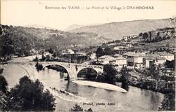 Chambonas (Ardèche) : Vue générale