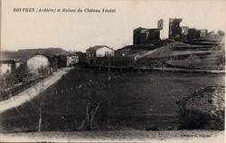 Boffres (Ardèche) et Ruines du Château Féodal