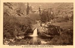 Burzet (Ardèche) : La Cascade de l'Enfer
