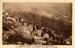 Burzet (Ardèche) : Procession du Vendredi-Saint