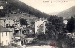 Burzet (Ardèche) : Quartier du Pont, la Bourge