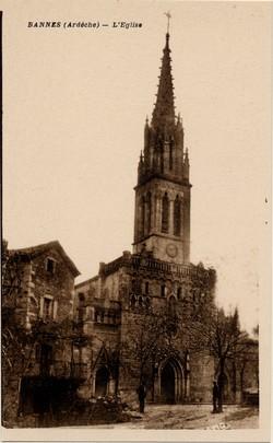 Bannes (Ardèche) : L'Eglise