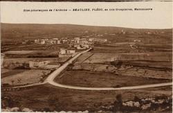 Beaulieu, Pléou, au loin Grospierres, Maisonneuve (Ardèche)