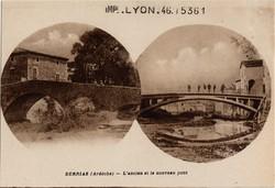 Berrias (Ardèche) : L'ancien et le nouveau pont