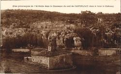 Le Chassezac du côté de Casteljau (dans le haut le Château)