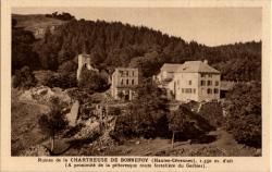 Ruines de la Chartreuse de Bonnefoy (Haute-Cévennes, Ardèche), 1350 m. d'alt.