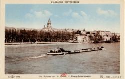 Bourg-Saint-Andéol (Ardèche) : Un bâteau sur le Rhône