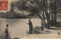 Lyon : Parc de la  Tête-d'Or ; Les Bords du Lac