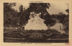 Lyon artistique : Parc de la Tête-d'Or ; Entrée du jardin botanique