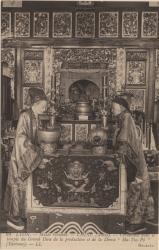"""Lyon : Musée Guimet ; Chine (Amoy) ; Cérémonie dans le temple du Grand Dieu de la production et de la Déesse """"Ma-Tso-Pô"""" (Taoïsme)"""""""