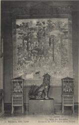 Lyon : Musée Guimet ; Japon ; La Mort du Bouddha ; Broderie du XVIe siècle (Don Sichel)