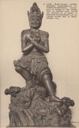 Lyon : Musée Guimet ; Japon ; Gosanzé, transformation de Fokou-Ou-Joo-Djou, terrassant un homme et une femme, dont le premier avait toutes les passions et la curiosité d'approfondir les religions autres que le bouddhisme.
