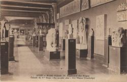 Lyon : Musée Guimet ; 28 Boulevard de Belges : Galerie du 1er étage ; Au premier plan : Art Khmer (Cambodge)